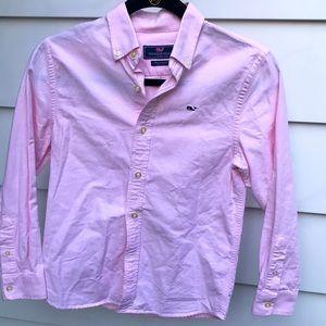Vineyard Vines Pink Whalen Shirt size S Boys